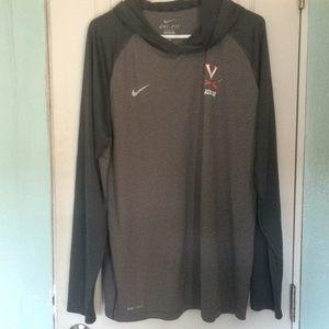 Nike virginia lacrosse hoodie dri fit